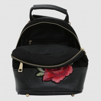 Iconic Embroidered Backpack with Zip Closure