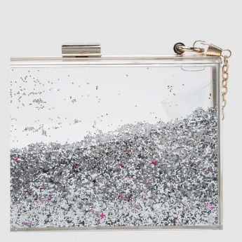 Iconic Sequin Clutch with Metallic Closure