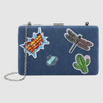 Iconic Embroidered Clutch with Sling