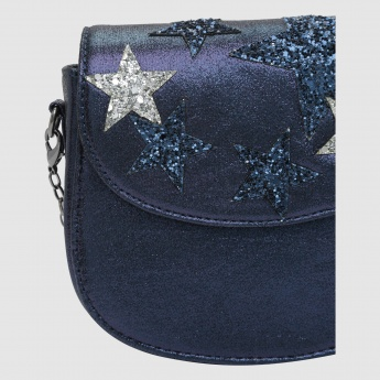 Iconic Sequin Detail Crossbody Bag with Magnetic Snap Closure