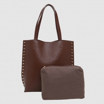 Iconic Handbag with Snap Closure