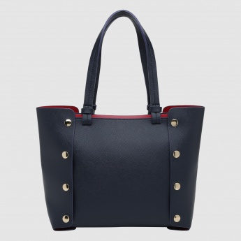 Iconic Studded Handbag with Magnetic Snap Closure