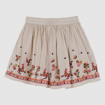 Iconic Embroidered Skirt with Elasticised Waistband