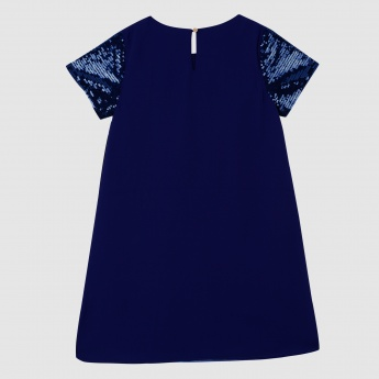 Iconic Printed Dress with Short Sleeves