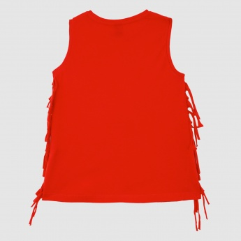 Iconic Sleeveless Top with Round Neck