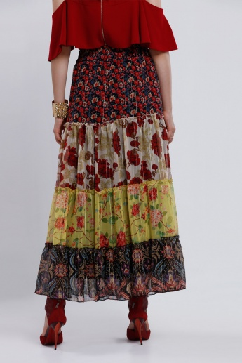 Iconic Printed Skirt with Elasticised Waistband