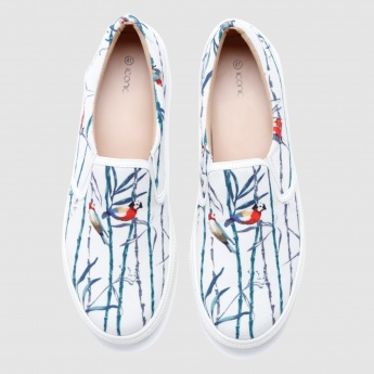 Iconic Printed Slip-On Shoes