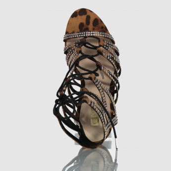 Iconic Studded Gladiators with Lace-Up Closure