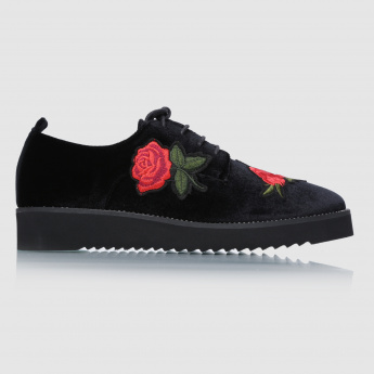 Iconic Embroidered Lace-Up Shoes