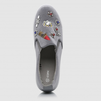 Iconic Embellished Slip-On Shoes