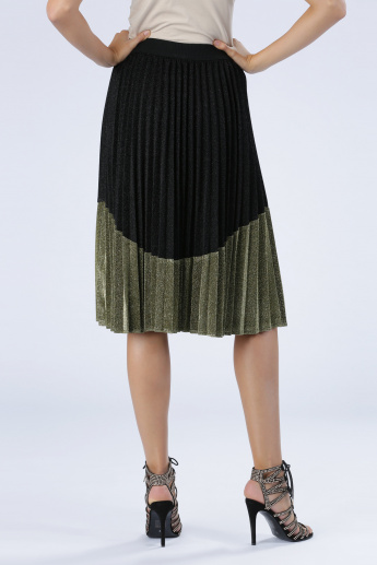 Iconic Shimmer Pleated Skirt
