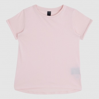 Iconic T-Shirt with Round Neck and Short Sleeves