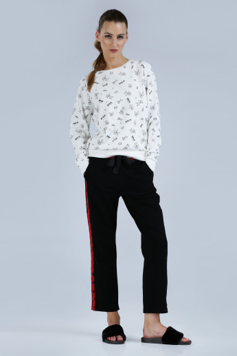 Iconic Printed Sweatshirt with Long Sleeves