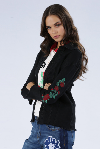 Iconic Embroidered Jacket with Long Sleeves