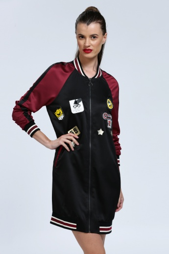 Iconic Applique Jacket Dress with Long Sleeves