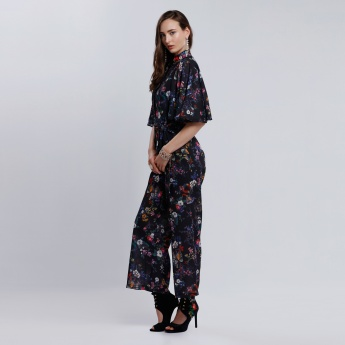 Iconic Printed Jumpsuit with Ruffle Sleeves