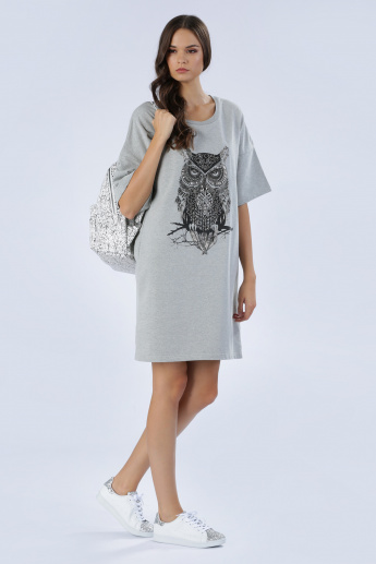 Iconic Embellished T-Shirt Dress