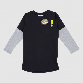 Iconic Donald Duck Printed Round Neck T-Shirt