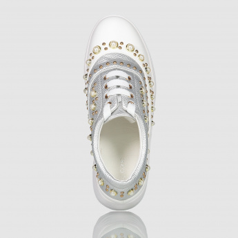 Iconic Embellished Lace-Up Sneakers
