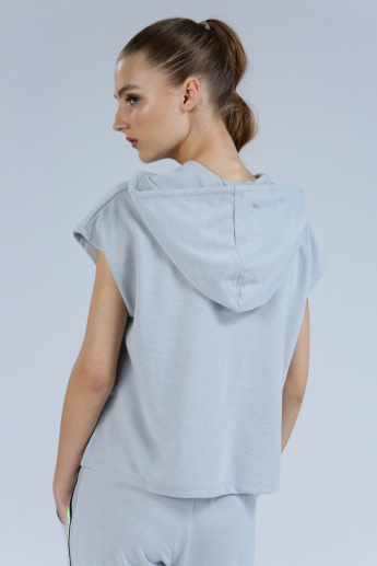 Iconic Cropped Top  with Hood and Extended Sleeves