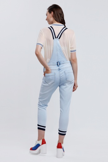 Iconic 3/4 Length Dungaree with Pocket Detail