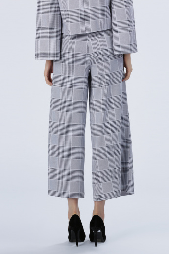 Iconic Chequered Culottes with Pocket Detail