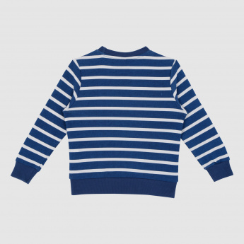 Iconic Striped Round Neck Long Sleeves Sweatshirt
