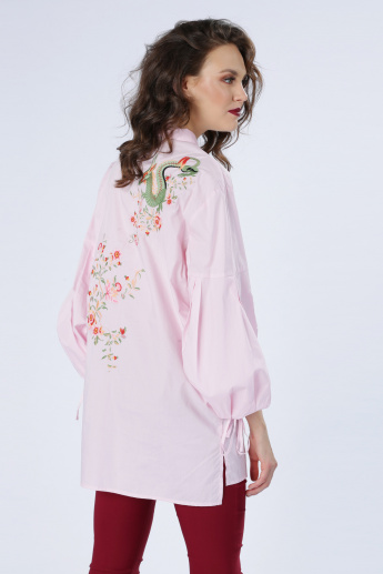 Iconic Embroidered Shirt with Complete Placket