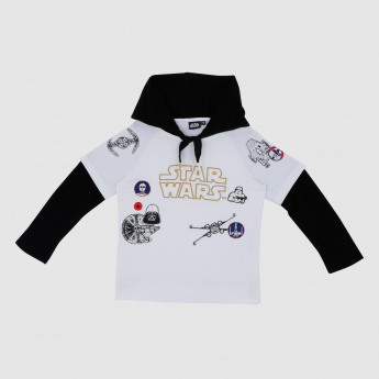 Iconic Star Wars Embroidered Long Sleeves Sweatshirt with Hood
