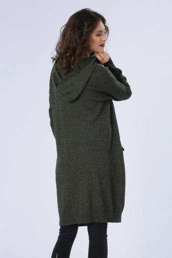 Iconic Long Line Sweater with Long Sleeves and Hood