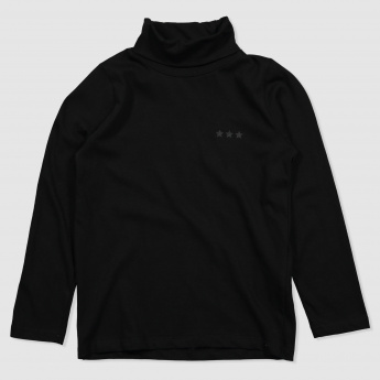 Iconic Turtle Neck T-Shirt with Long Sleeves