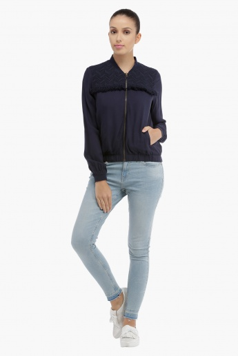 Lee Cooper Bomber Jacket with Tassels