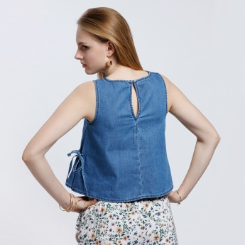 Lee Cooper Sleeveless Top with V-Neckline