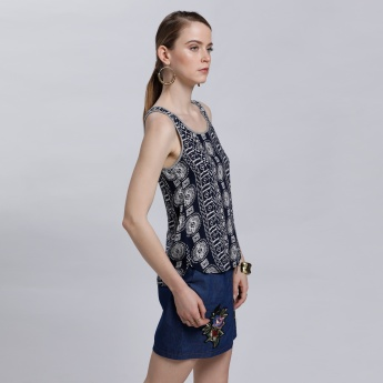 Lee Cooper Printed Round Neck Top