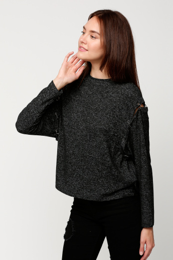 Lee Cooper Round Neck Top with Long Sleeves