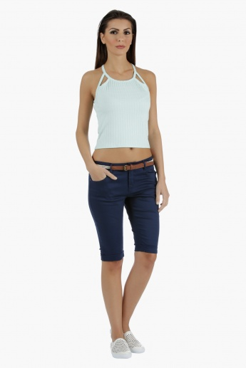 Denim Cycling Shorts in Regular Fit