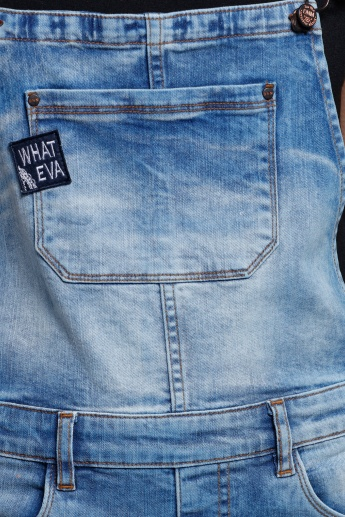 Eco Friendly Denim Dungaree with Pocket Detail and Adjustable Straps