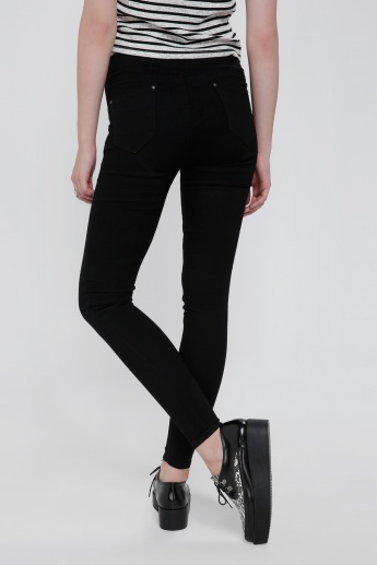Full Length Jeans with Elasticised Waistband