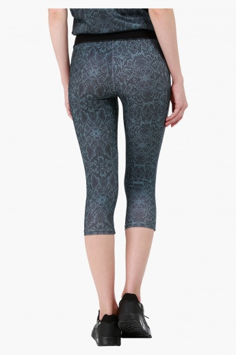 Kappa Printed Technical Tights with Contrast Waist in Regular Fit