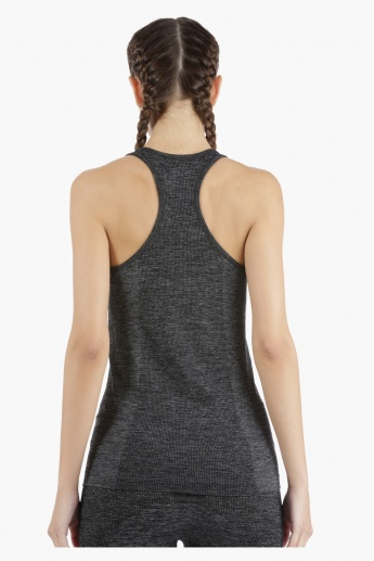 Kappa Racerback Vest with Seamless Pattern in Regular Fit