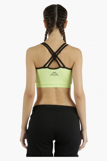 Kappa Printed Sports Bra with Contrast Binding in Regular Fit
