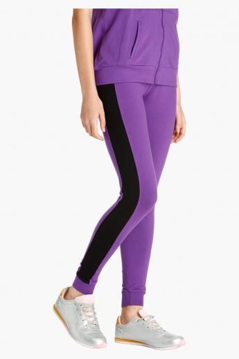 Kappa Slim Fit Jog Pants with Side Stripes