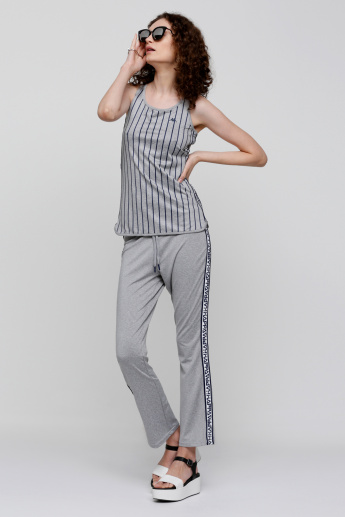 Kappa Full Length Pants with Elasticised Waistband and Tape Detail