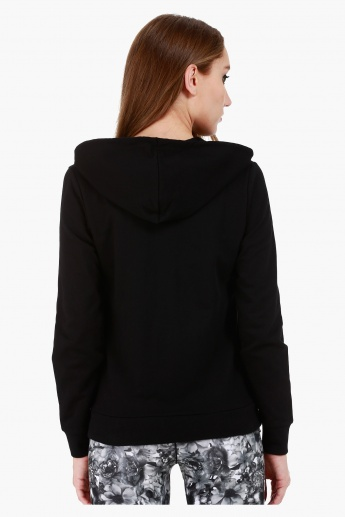 Basic Hooded Jacket with Long Sleeves in Slim Fit