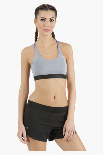 Reversible Sports Bra with Contrast Straps