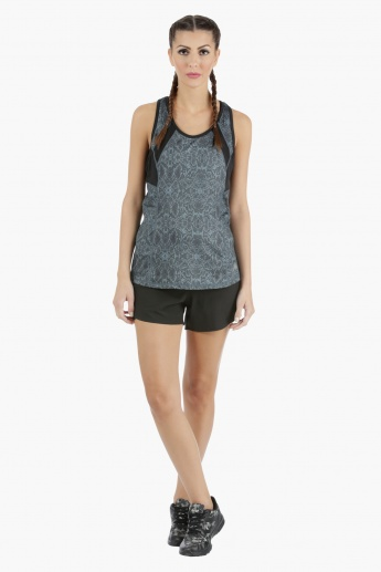 Running Shorts with Inner Extended Mesh in Regular Fit