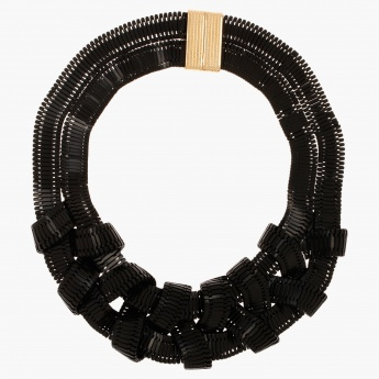 Contrast-detailed Necklace
