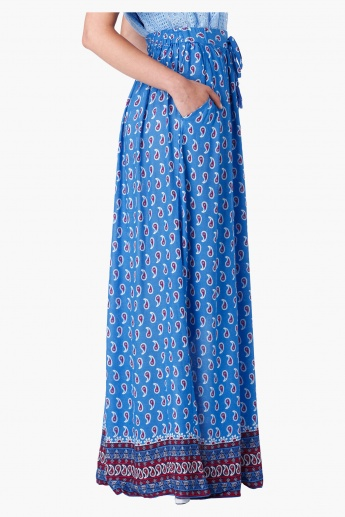 Printed Maxi Skirt in Regular Fit