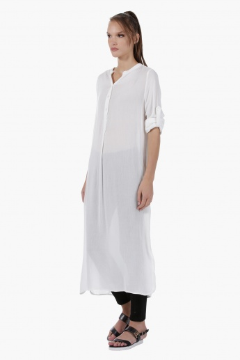 Long Tunic with Slit in Regular Fit