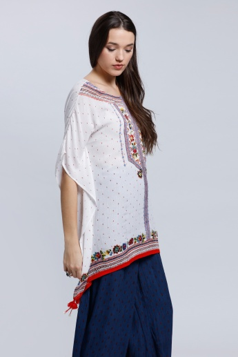 Printed Tunic with Short Sleeves